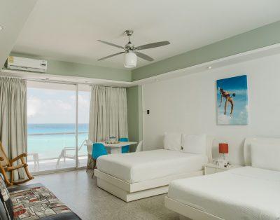 Suite Girasol con Vista al Mar en Zona Hotelera en Cancún